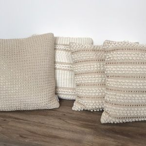 Other - Cream, and gold throw pillows!